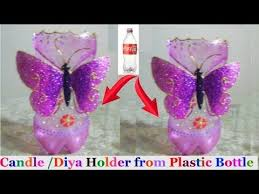 Decorated Plastic Bottles How to make Candle StandDiya Stand from plastic bottle diwali 81