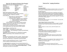 How To Make A Chart For A Science Fair Project St Bernadette Parish