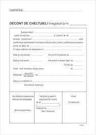 Decont Cheltuieli A5 100 File Print F V
