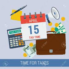 Time And Pay Calculator Vector Concept Time For Pay Taxes Icon Calendar April 15 Calculator