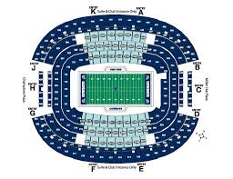 Dallas Cowboys Seating Chart Seating Charts Dallas Sports Guide