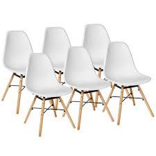 Details Zu 6 Set Stühle Esszimmerstühle Stuhl Sessel Retro Weiß Kingpower