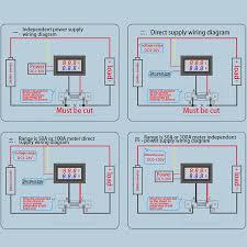 0 100v 50a red blue digital voltmeter ammeter 2in1 dc volt amp meter Ammeter Circuit Diagram at Amp Meter Shunt Wiring Diagram