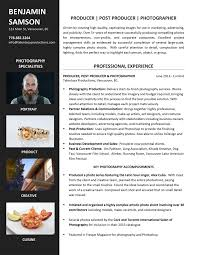 Photographer Resume Examples Sample Resumes Career Story 41