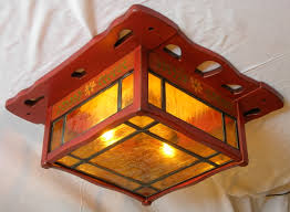 arts and crafts ceiling lights designs