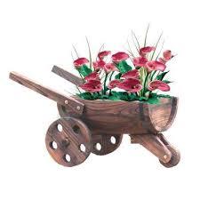 w x 13 in d x 13 in h wood wheelbarrow