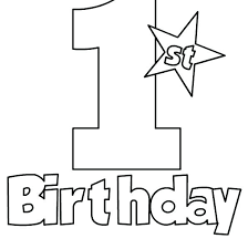Mickey Mouse 1st Birthday Coloring Pages Mickey Mouse Birthday