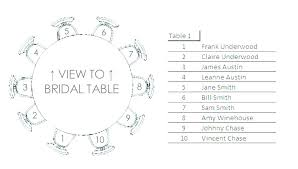 round table wedding seating chart template free floor plan lace templates excel meaning in telugu printable
