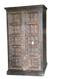antique armoire lotus floral carved doors storage cabinetfree shipping antique storage cabinet with doors63 cabinet