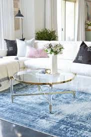 coffee table measurement guide a brass and lucite round up
