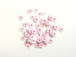Zdobení Na Nehty Fimo Růžovo Bílé Květinky