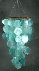 blue capiz shell chandelier blue shell chandelier shell chandelier i had a mobile similar to this