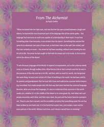 a meaningful alternative as a wedding reading excerpted from the  a meaningful alternative as a wedding reading excerpted from the alchemist by ian writer paulo