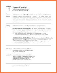 Cna Sample Resume Stunning Resume Certified Nursing Assistant Free Resume Template Evacassidyme