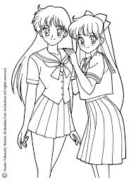 Small Picture Sailor moon with a cat coloring pages Hellokidscom