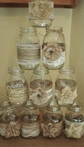 Decorated Jars For Weddings Set of 60 Mason Jar Sleeves Burlap Wedding Decorations Rustic 44