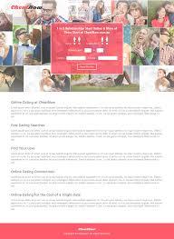 Online Dating Website Design Cheatnow Online Dating Web Design On Behance
