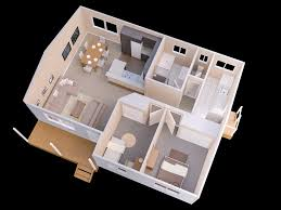 Small Three Bedroom House 25 More 2 Bedroom 3d Floor Plans