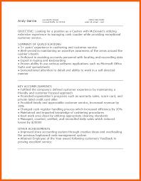 7 8 Mcdonalds Cashier Resume Formsresume