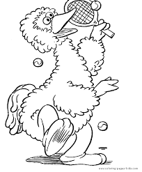 Small Picture Sesame street color page Coloring pages for kids Cartoon
