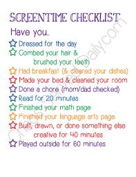 Daily Checklist For Kids Rome Fontanacountryinn Com