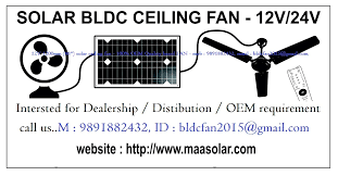 solar bldc 24v ceiling fan manufacturer india