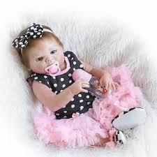 NPK Adorable <b>19inch</b> 46cm Reborn Doll Handmade <b>Full Silicone</b> ...