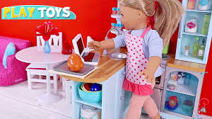 American Girl Baby Doll Kitchen Toys Doll Cooking Play Youtube