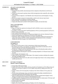 Hospital Supervisor Resume Lab Supervisor Resume Samples Velvet Jobs 15