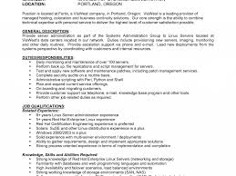 Linux Administrator Cover Letter Sample Resume For Dental