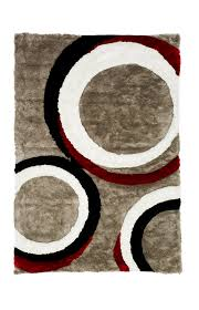 image for 75x 111 black grey and red rug from brault martineau