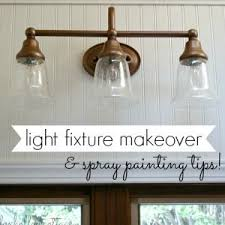 diy bathroom lighting. diy light fixture makeovertutorial with rust oleum spray paint in metallic vintage copper bathroom diy lighting t