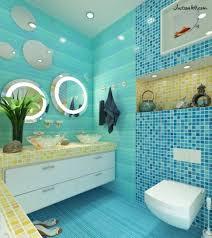 Blue Tiled Bathrooms 40 Vintage Blue Bathroom Tiles Ideas And Pictures