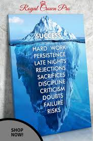 Success Hard Work Persistence Quote Success Is An Iceberg Framed