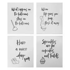 4 Lustige Badezimmer Zitate Zeichen Typografie Amazonde Kamera
