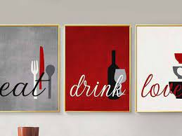 Get it as soon as wed, may 12. Eat Drink Love Kitchen Wall Art Epic Exports