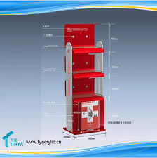 Bar Bottle Display Stand Custom Printed Red Deluxe Promotion Shampoo Displays Hair Color 80