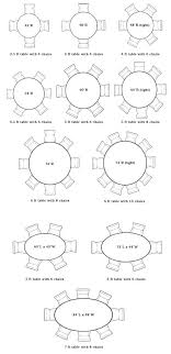 round table sizes size of for people stupefy what seats home design seating 6 round table sizes
