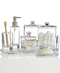 Hotel Collection Glass Bath Accessories Collection Bathroom