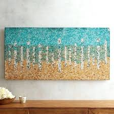glass wall art teal and gold mirrored mosaic glass wall art panel stained glass wall art glass wall art