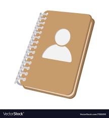 closed spiral address book cartoon icon vector image
