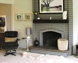 image of modern painting brick fireplace ideas