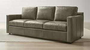barrett leather 3 seat track arm sofa