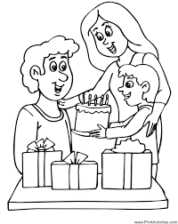 Small Picture Birthday Party Coloring Page Dads Birthday