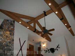 lighting for beams. Faux Beams With Recessed Lights Ceiling Lighting For