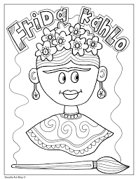 Follow along with me as i draw and color this iconing mexican artist. Frida Kahlo Classroom Doodles