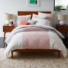 mid century modern bed mid century modern bedding contemporary platform bed frame
