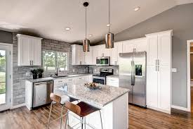 Small Picture Rustic Modern Kitchen Ideas White Wooden Stools Cream Color Fabric