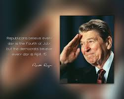 Ronald Reagan Photo Picture Poster Framed Quoterepublicans Believe Every Day Is The Fourth Of July Us President Portrait Famous Inspirational