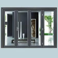 finished exterior aluminium glass door